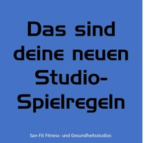 UPDATE: Studio-Spielregeln - dein Kursplan! :-)