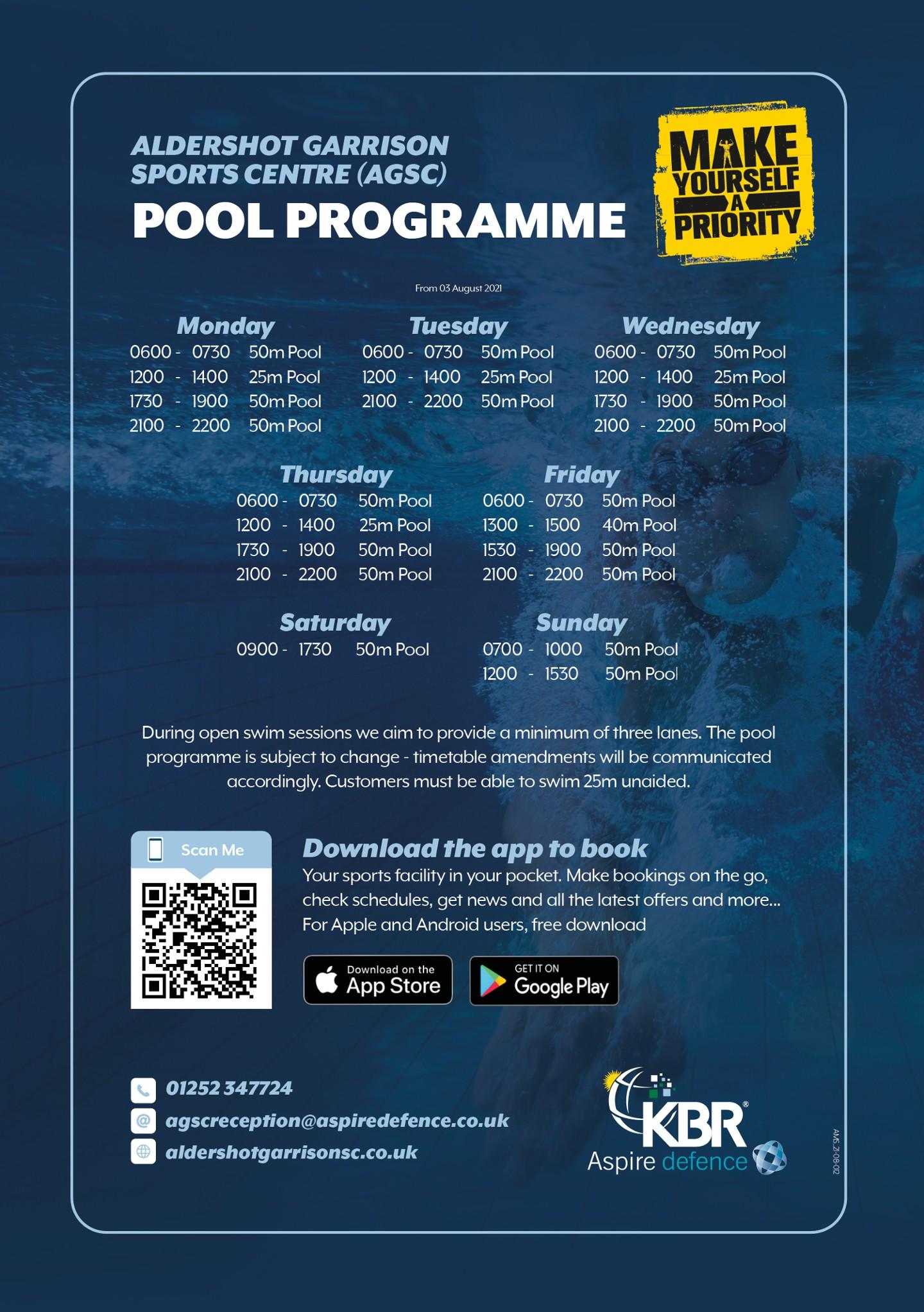 Open Swim 1200-1400 - Back on today