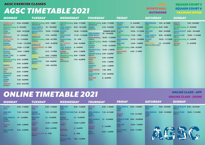 NEW SEPTEMBER TIMETABLE - NEW CLASSES